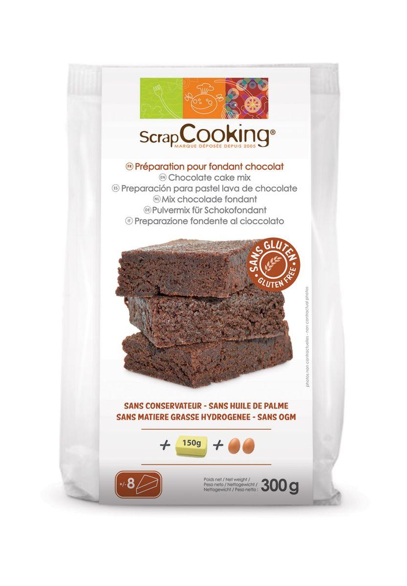 Préparation pour fondant chocolat sans gluten 300gr - Scrapcooking