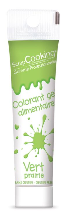 Colorant gel alimentaire vert clair - Scrapcooking