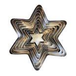 Set 10 emporte-pièces inox étoiles biscuits Noël - Zôdio