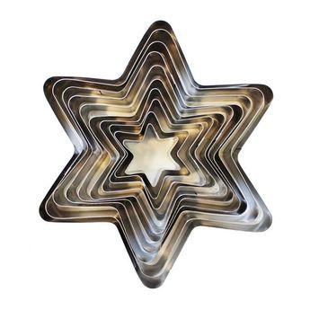 Achat en ligne Set de 10 emporte-pièces en inox étoiles biscuits Noël - Zôdio