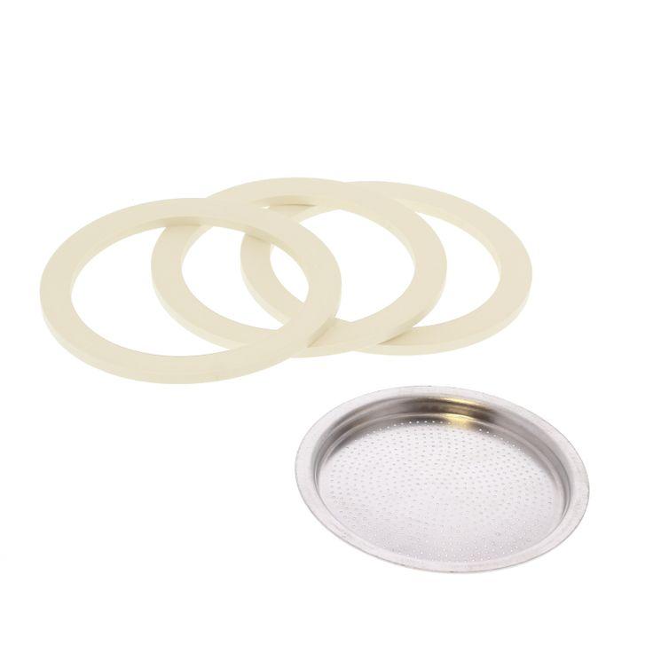Pièce de rechange : 3 joints + 1 filtre - Venus 10 tasses - Bialetti