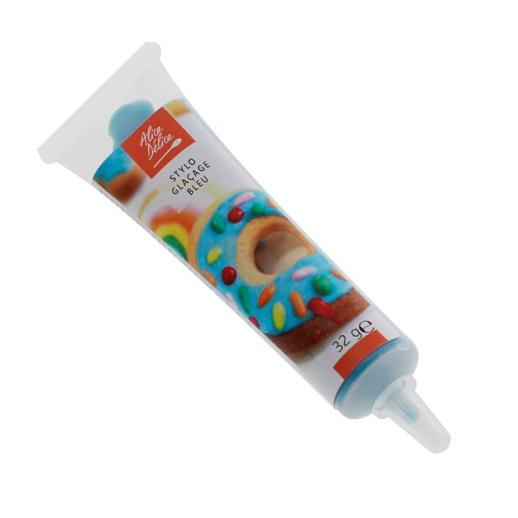 Stylo glaçage bleu clair pour décorer les biscuits 32g