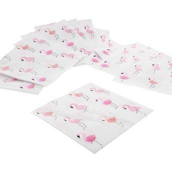 Serviettes 33cm x 33cm flamants roses - AvantGarde