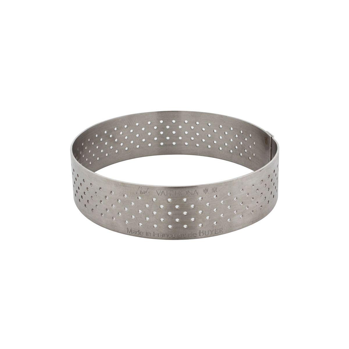 Cercle à tartelette en inox perforé 7.5 x 2 cm - De Buyer