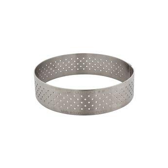 Achat en ligne Cercle à tartelette en inox perforé 7.5 x 2 cm - De Buyer