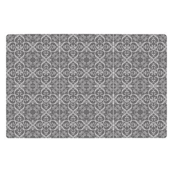 SET DE TABLE MOTIF CARREAUX DE CIMENT GRIS FONCE 44X28.5 CM - KJ COLLECTION