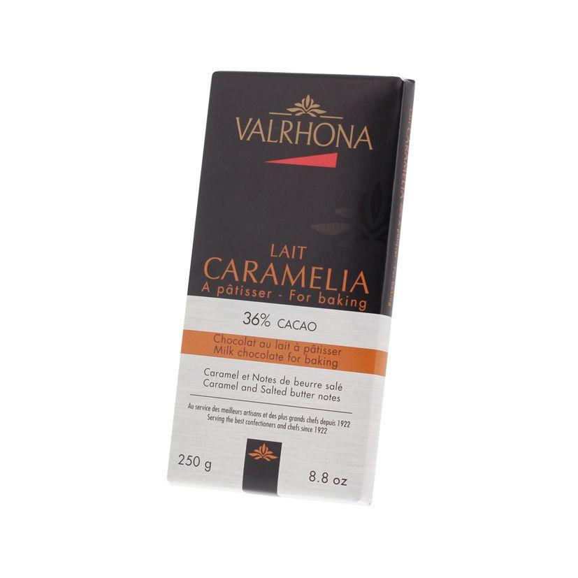 MINIBLOCS CHOCOLAT AU LAIT A PATISSER CARAMELIA 36% 250GR - VALRHONA