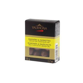 AMANDES ET NOISETTES GRAND CRU CHOCOLAT LAIT 50GR - VALRHONA