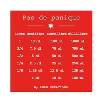 "MAGNET ""PAS DE PANIQUE"" ROUGE - LULU CREATION"