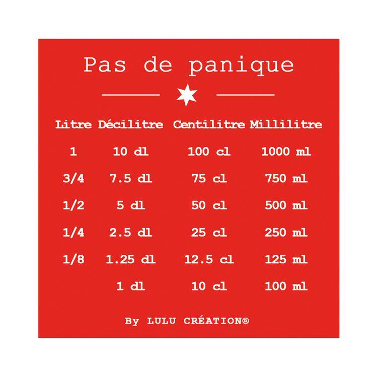 """MAGNET """"PAS DE PANIQUE"""" ROUGE - LULU CREATION"""