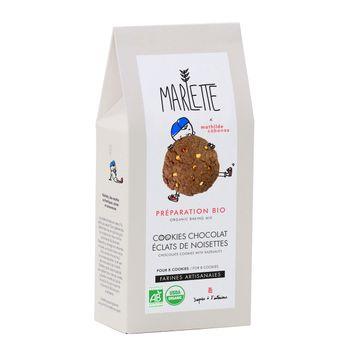 PREPARATION COOKIES BIO CHOCOLAT ET ECLATS DE NOISETTES 320GR - MARLETTE