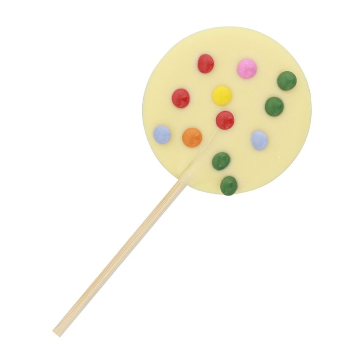SUCETTE CHOCOLAT BLANC VANILLE 26g Lolly - CHOC O LAIT