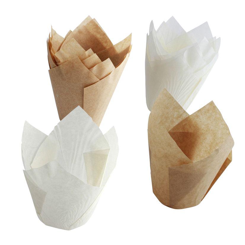 12 moules à muffins tulipe en papier 9 cm - Birkmann