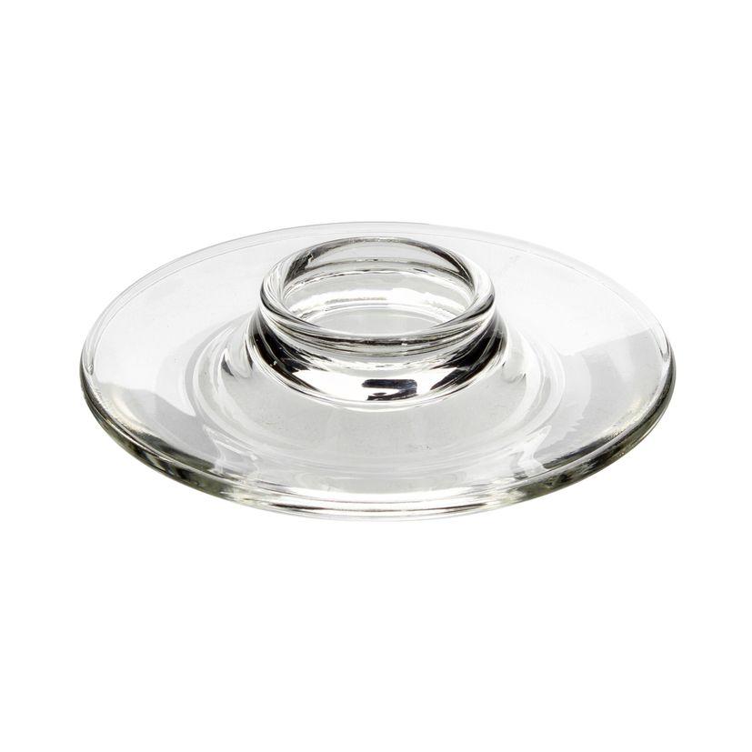 Coquetier assiette en verre - La Rochère