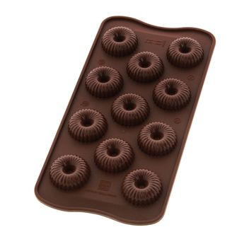 Moule à chocolats 3D en silicone Chococrown - Silikomart