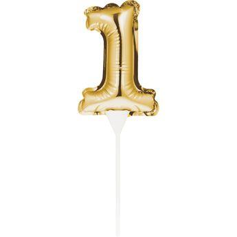 Achat en ligne Décor de gâteau : Ballon chiffre 1 doré - Creative Converting