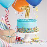 Décor de gâteau : Ballon chiffre 7 doré - Creative Converting