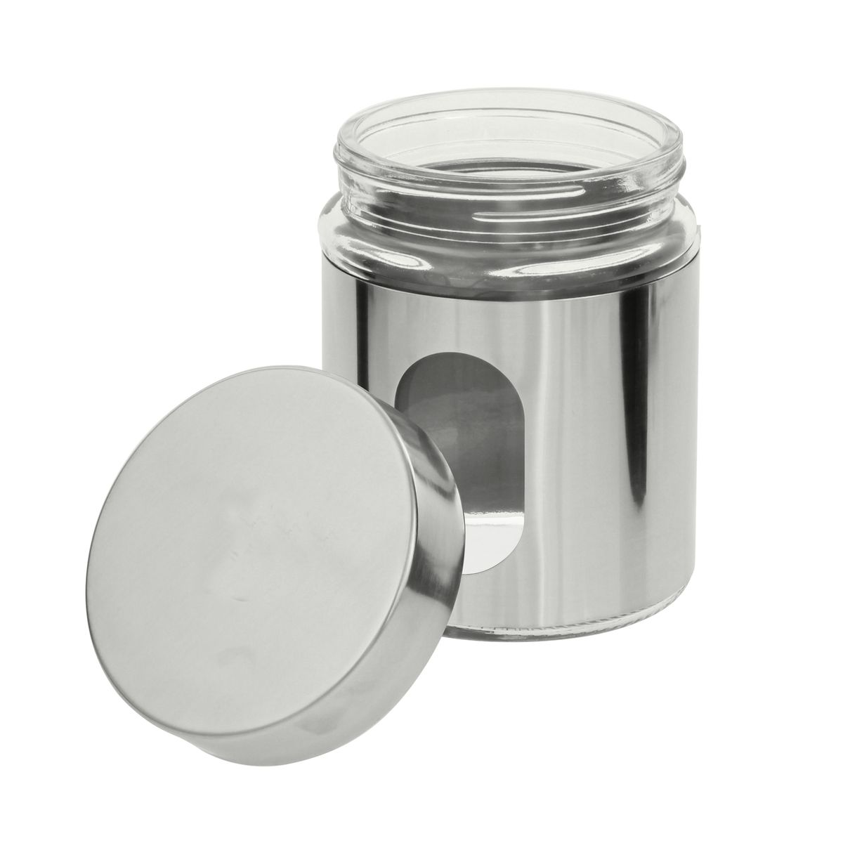 Pot hublot verre et chrome 500ml - Zeller