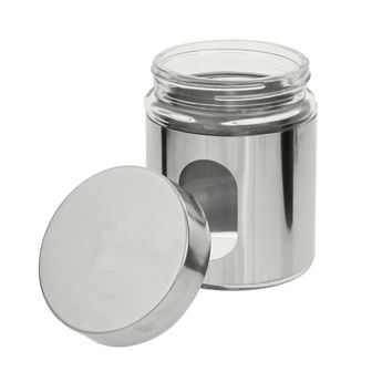 Pot hublot verre et chrome 500ml - Zeller