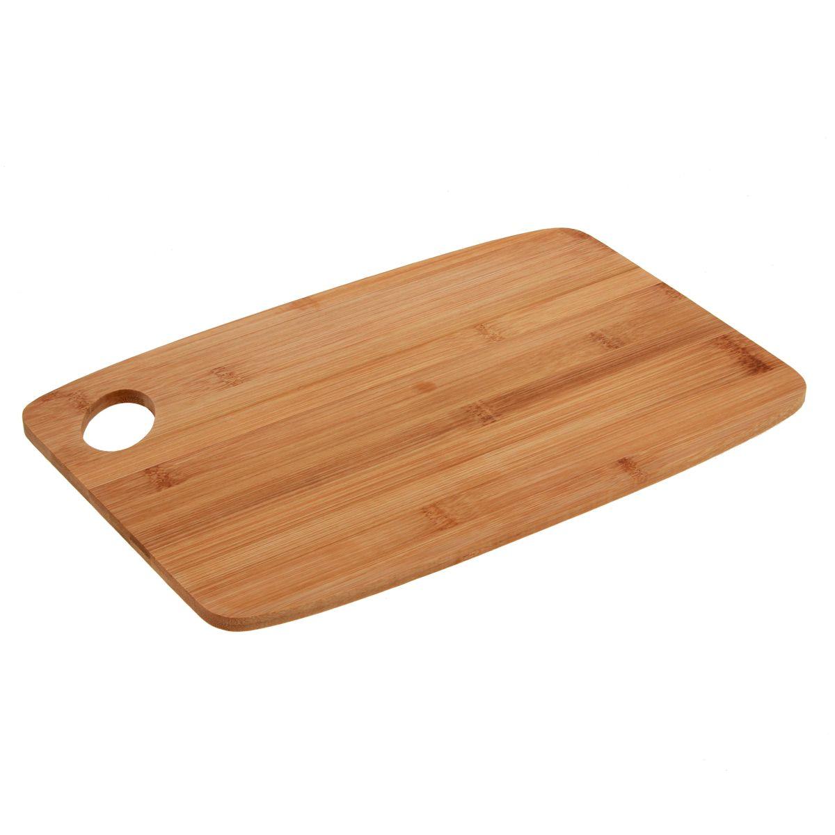 Planche bambou avec manche 34 x 23 x 1 cm - Zeller