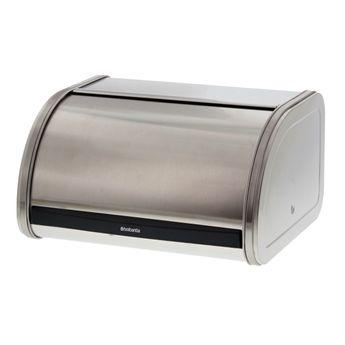 Achat en ligne Boîte à pain Matt Steel Medium grise 17.30 x 26.50 x 31.60 cm - Brabantia