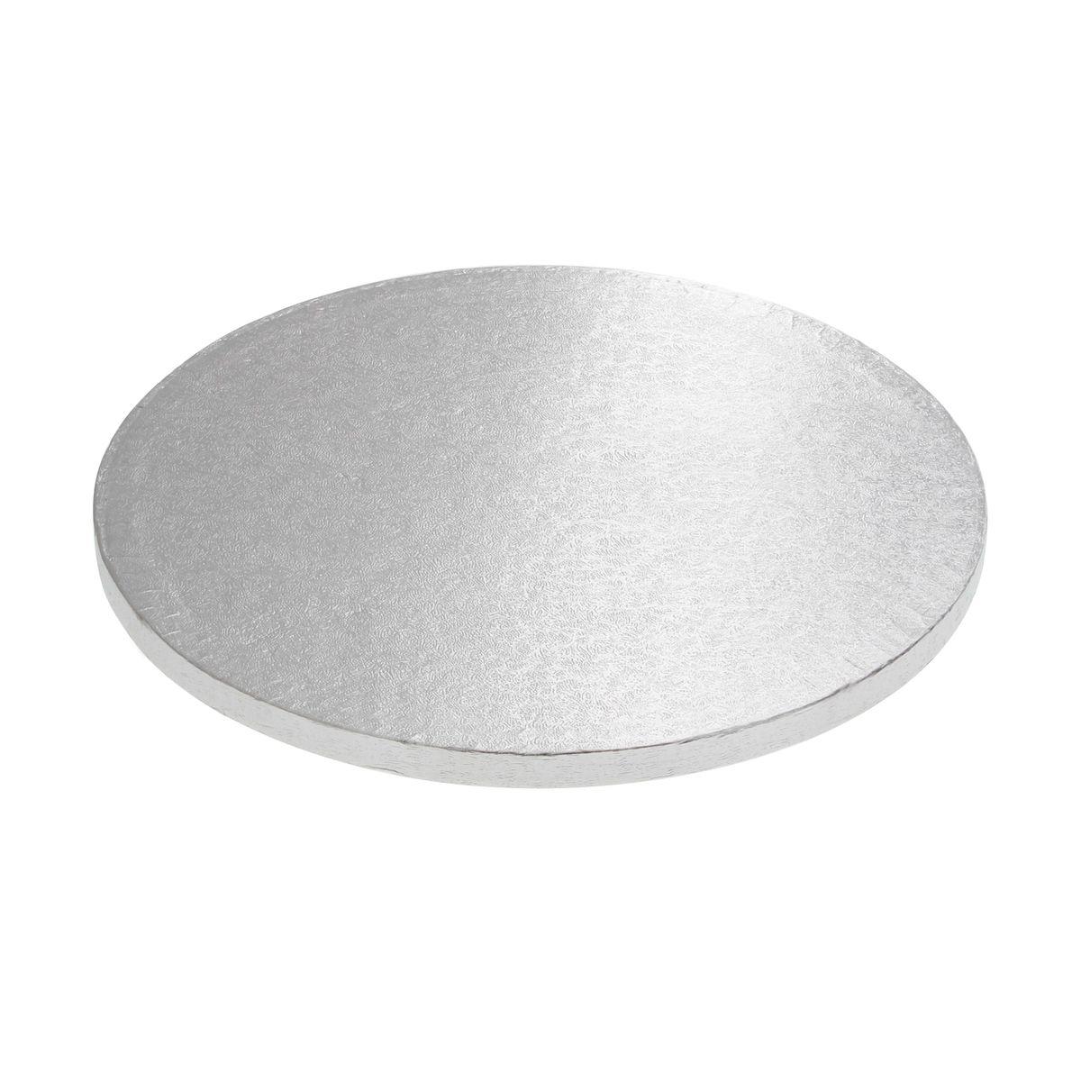 Base gâteau ronde argentée 25cm - Anniversary House