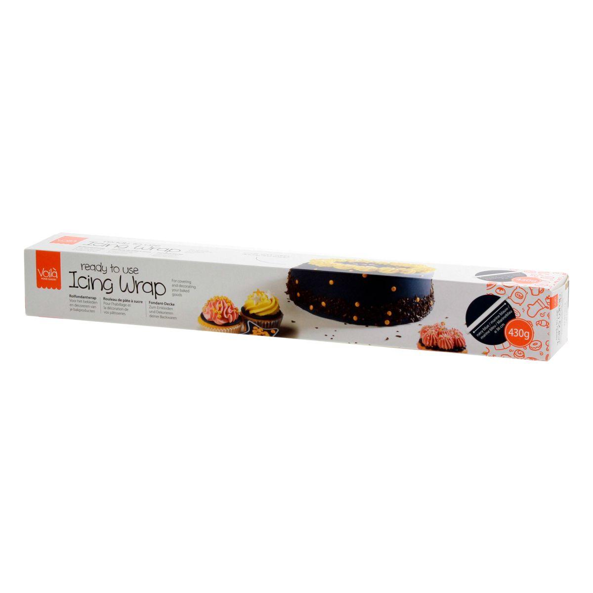 Rouleau de pâte à sucre bleu marine 430 gr - Voila