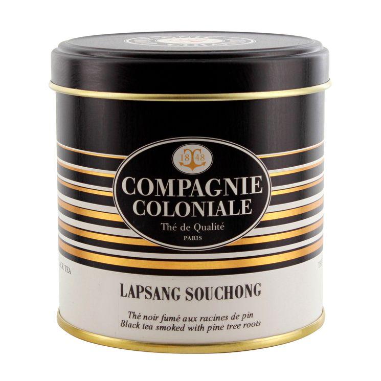 Thé noir nature Lapsang Suchong boîte métal   - Compagnie Coloniale
