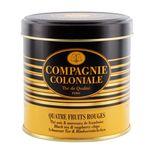 Thé noir aromatisé boîte métal 4 fruits rouges 120gr - Compagnie Coloniale