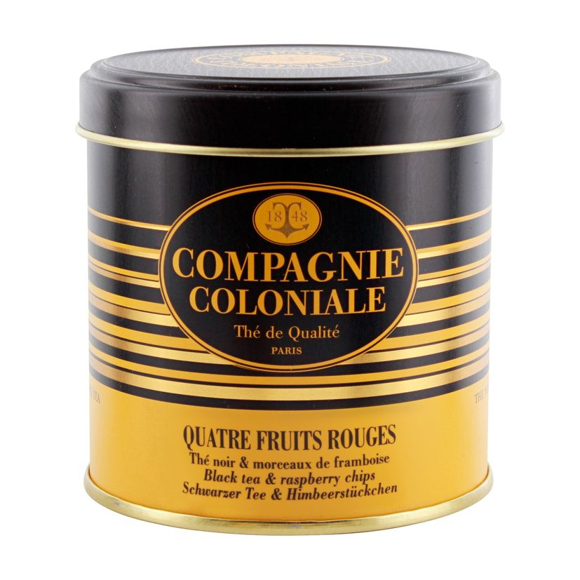 THE NOIR AROMATISE BOITE METAL 4 FRUITS ROUGES - COMPAGNIE COLONIALE