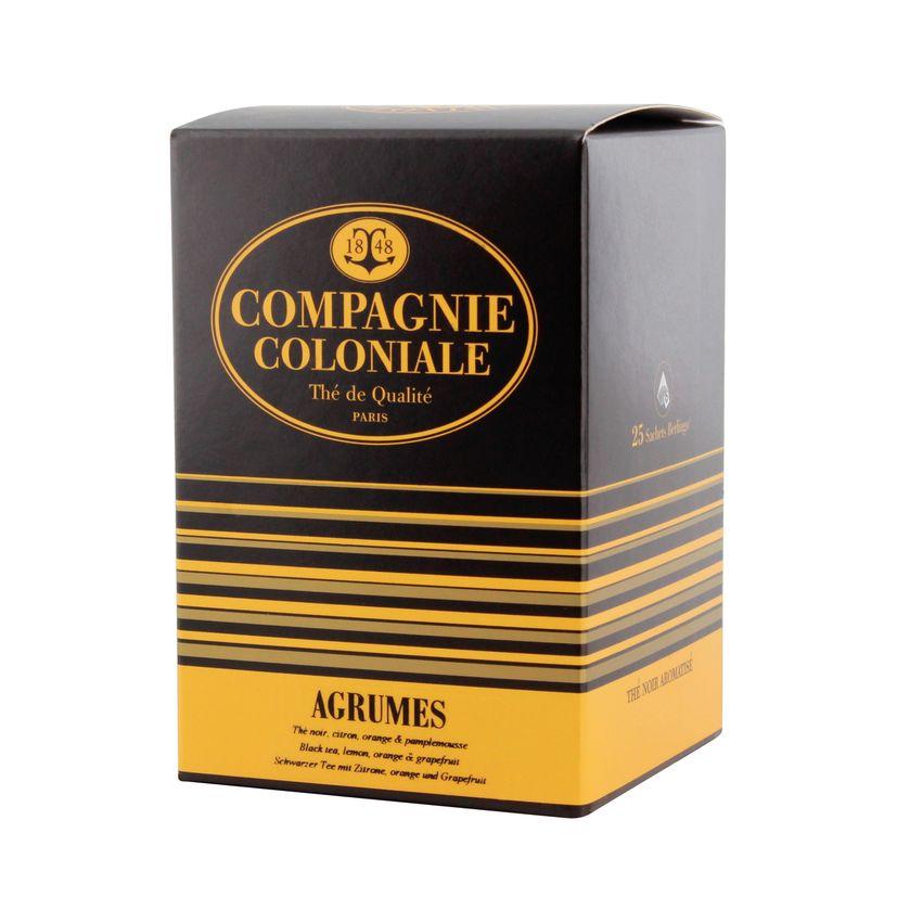 Thé noir aromatisé 25 berlingots agrumes - Compagnie Coloniale