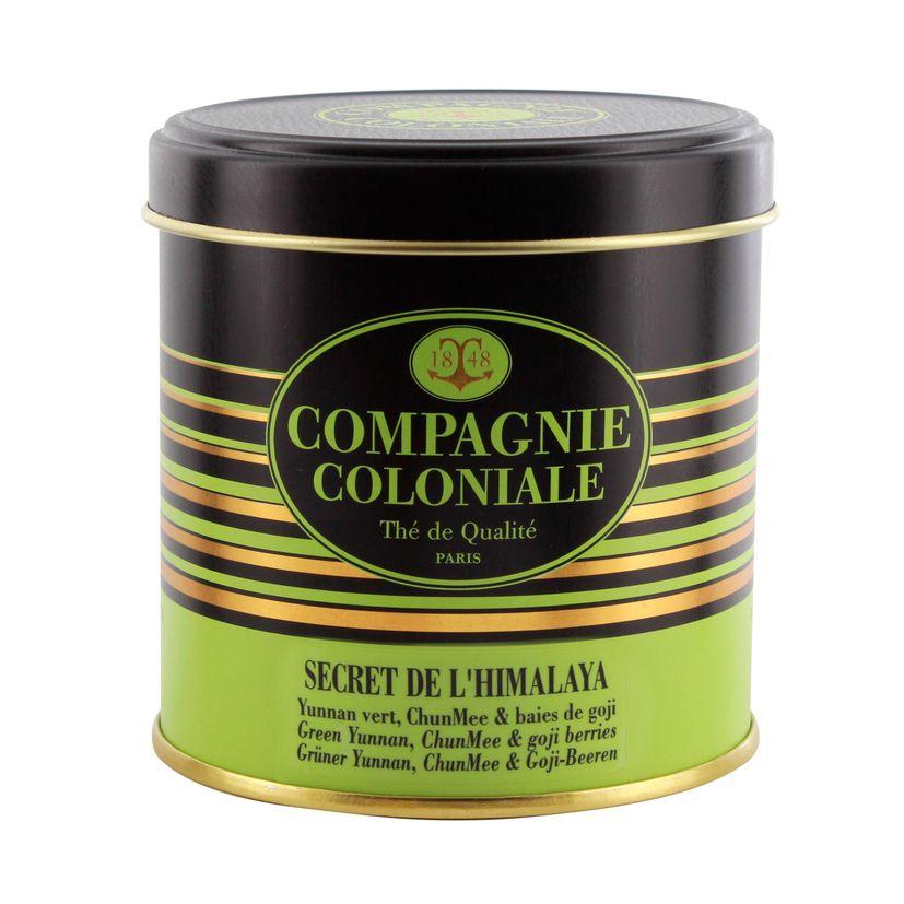 Thé vert aromatisé boîte métal Secret de l´Himalaya - Compagnie Coloniale