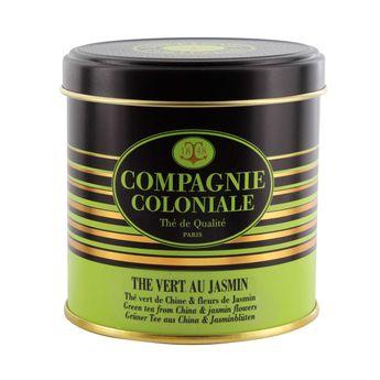 Achat en ligne Thé vert aromatisé boîte métal thé vert au jasmin 100gr - Compagnie Coloniale