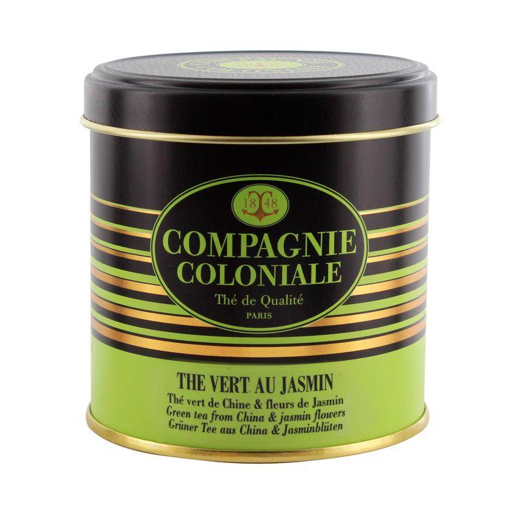 Thé vert aromatisé boîte métal thé vert au jasmin 100gr - Compagnie Coloniale