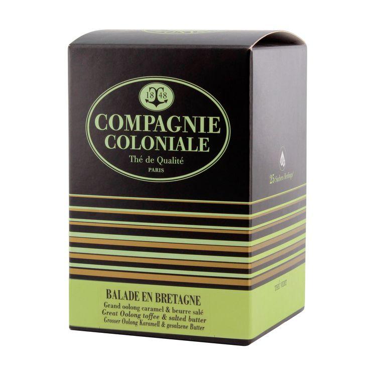 Thé vert aromatisé  25 berlingots Balade en Bretagne - Compagnie Coloniale