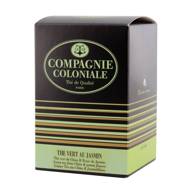 Thé vert aromatisé 25 berlingots thé vert au jasmin - Compagnie Coloniale