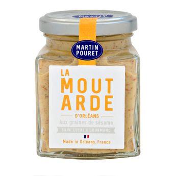 MOUTARDE D´ORLEANS AUX GRAINES DE SESAME 200G - MARTIN POURET