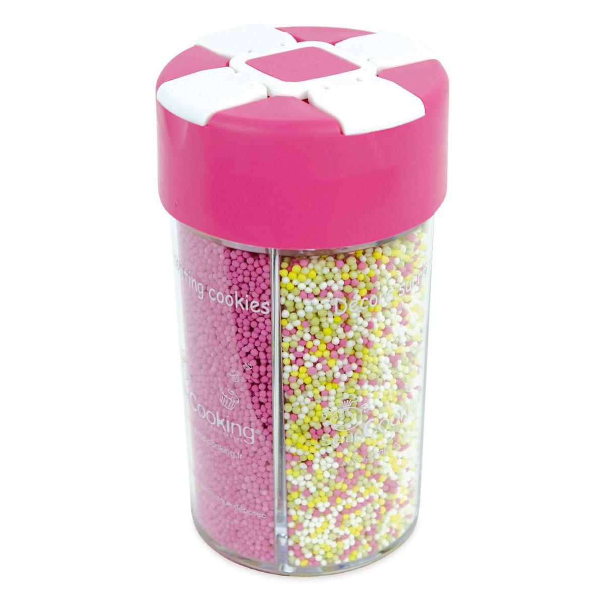 Boîte distributrice décors sucres couleur naturelle -  Scapcooking