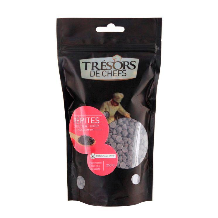 Pépites de chocolat noir 250 g - Trésors de Chefs