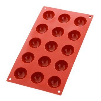 Moule en silicone 15 demi-sphères - Silikomart