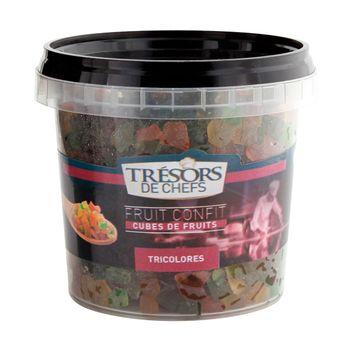 Achat en ligne Cubes de fruits confits tricolores 250gr - Trésors de Chefs