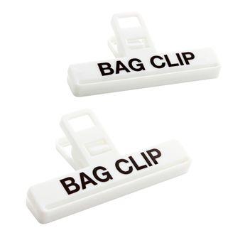 Pinces à sac moyennes 2pc 9 cm plastique - Kitchencraft