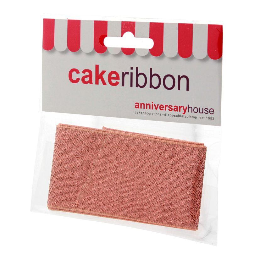 Ruban pour gâteau rose 4cmx1m - Anniversary House