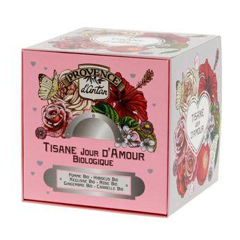 Recharge cube tisane Jour d´amour 24 sachets bio* 60g - Provence d´Antan