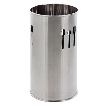 Achat en ligne Pot à ustensiles égouttoir couverts argent 18cm - Zeller