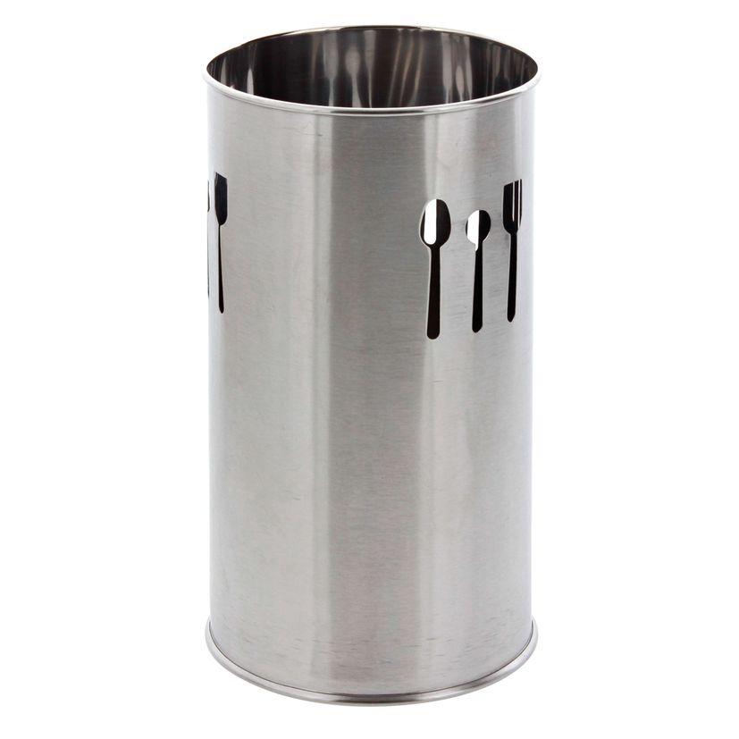 Pot à ustensiles égouttoir couverts argent 18cm - Zeller