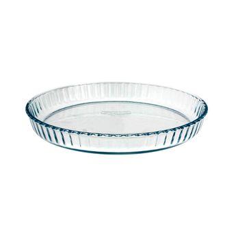Plat à tarte transparent 28cm - Pyrex