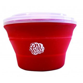CUISEUR POPCORN PLIABLE - ROUGE - ALICE DELICE