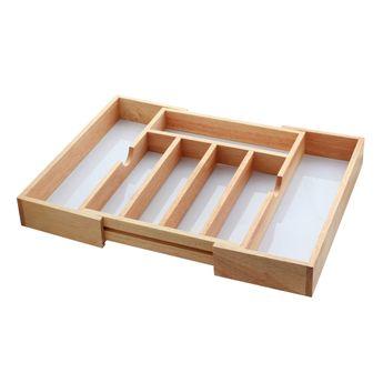 Rangement couverts extensible en bois - Zeller