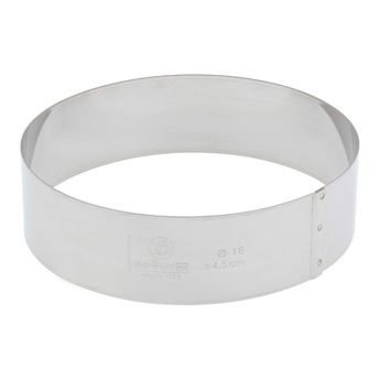 Cercle à entremets inox 20 cm - De Buyer